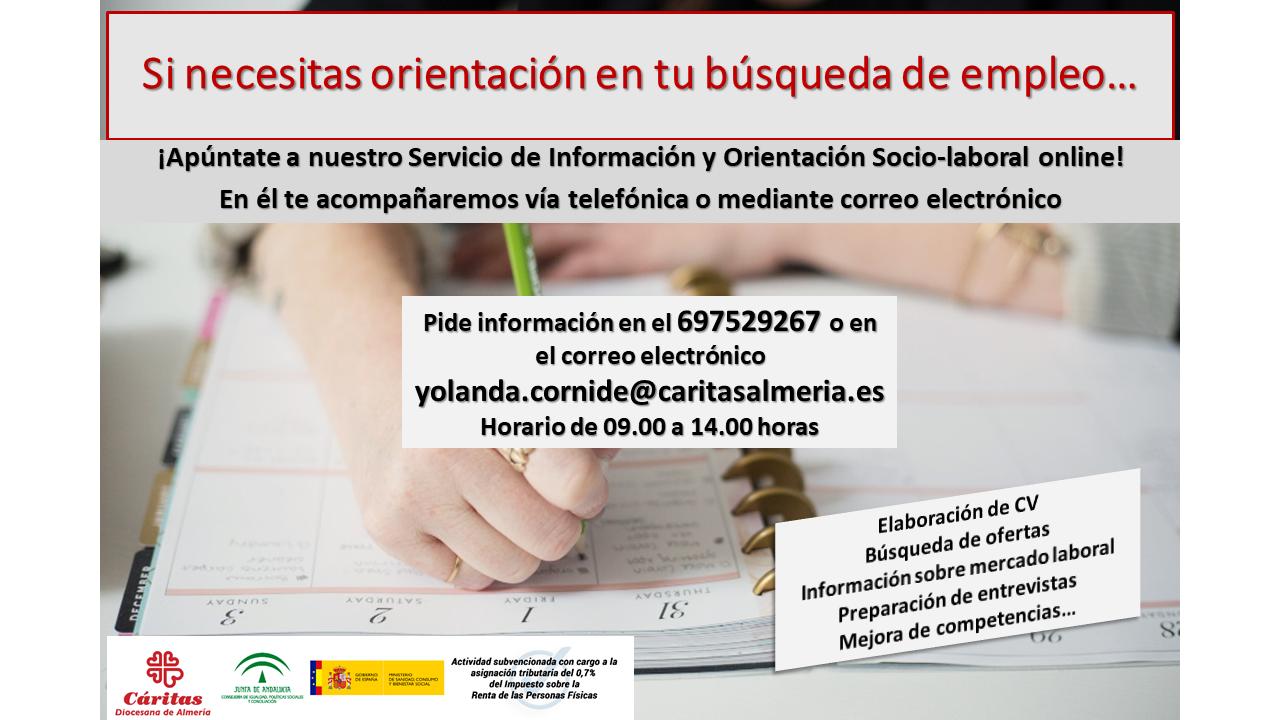 Cartel informativo de los SERVICIOS DE INFORMACiÓN Y ORIENTACIÓN LABORAL